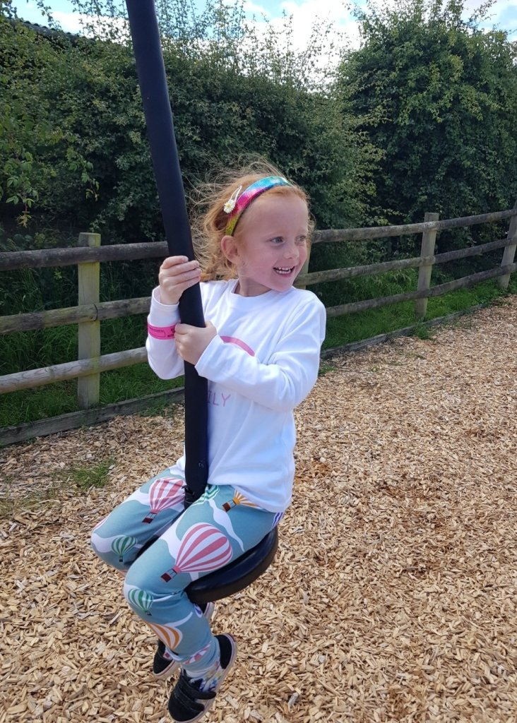 The zip wire was a huge highlight for Lily