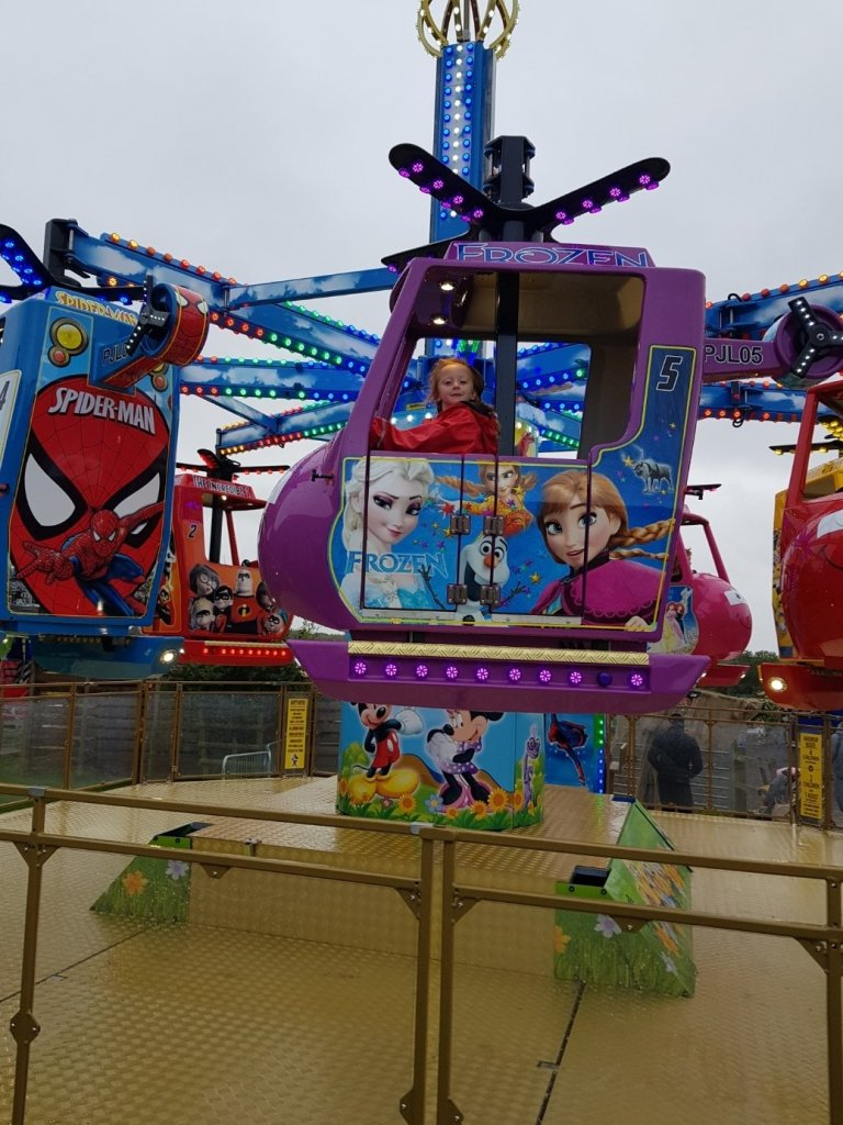 The funfair rides take tokens, available from a kiosk - card only