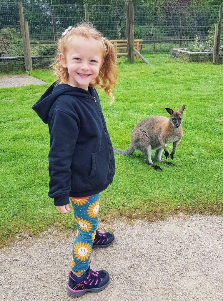 Meeting the animals on her visit to Peak Wildlife Park