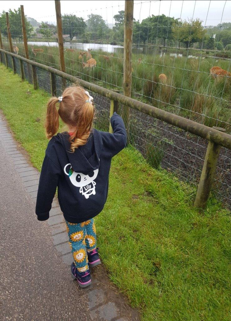 Heading along  the nature walk
