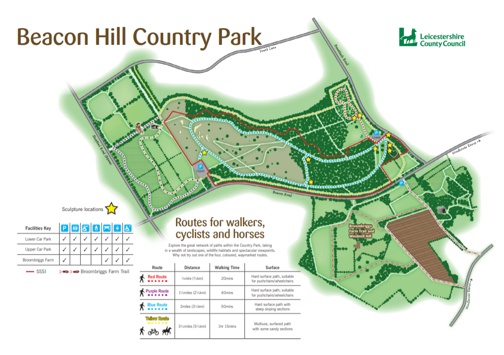 The Beacon Hill route map (downloadable below)
