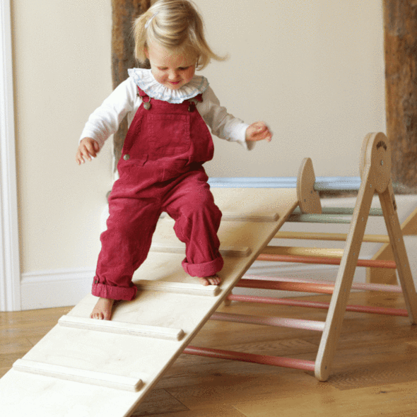 Plastic free toys for babies and children over at Pom Pom (Photo: Climbing Triangle, Pom Pom )