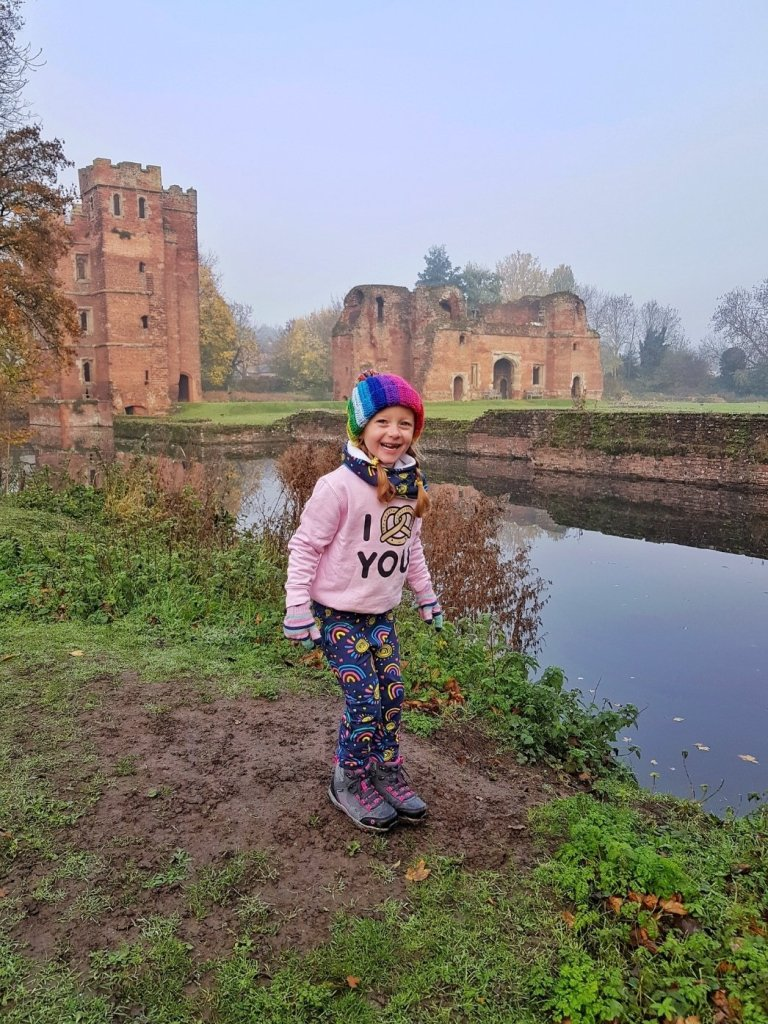 Exploring in her Cotswold Ducklington boots from Little Trekkers (gifted)
