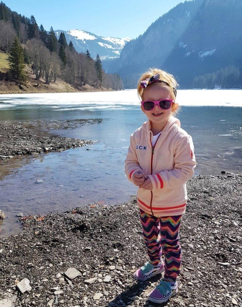 Exploring the lake at Lac De Montriond