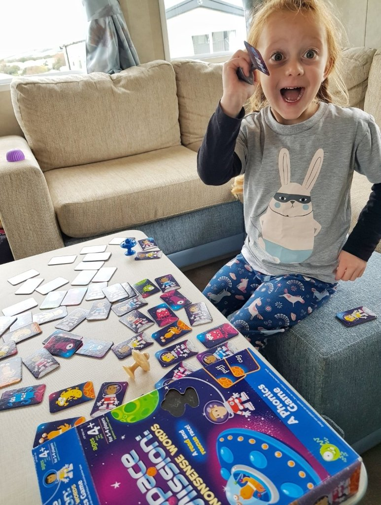 Loving Learning Resources UK's Space Mission: Nonsense Words (gifted) in the caravan on a rainy day!