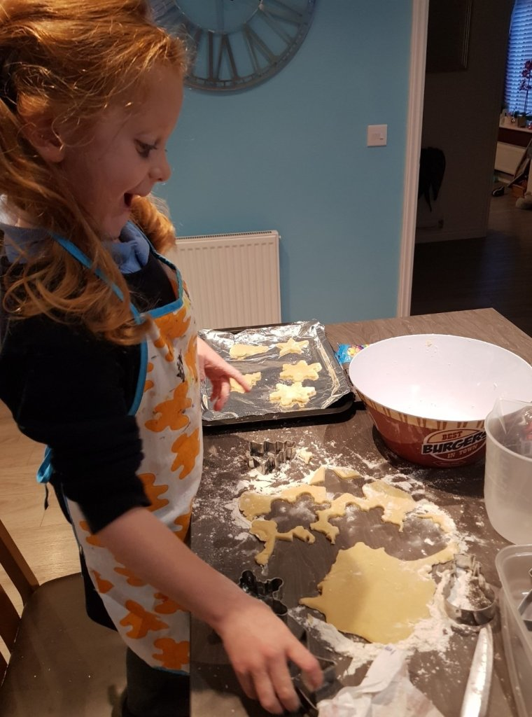 Getting exciting making Christmas cookies!