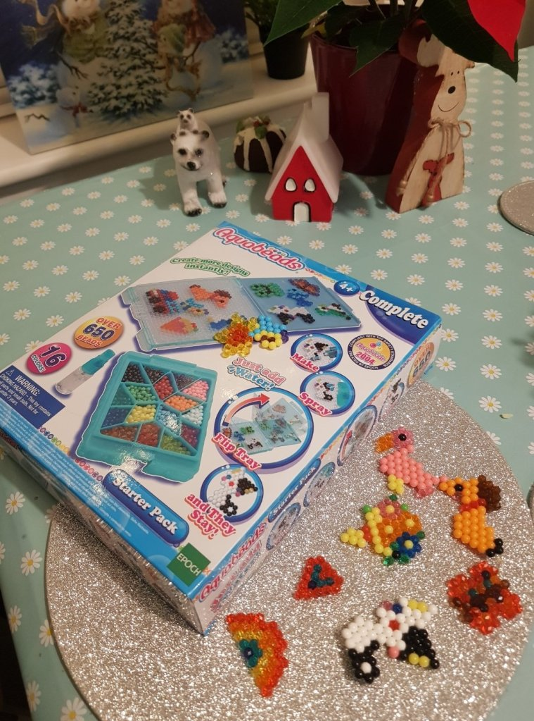 Aquabeads are a great activity, and can be used for cards or decorations too!