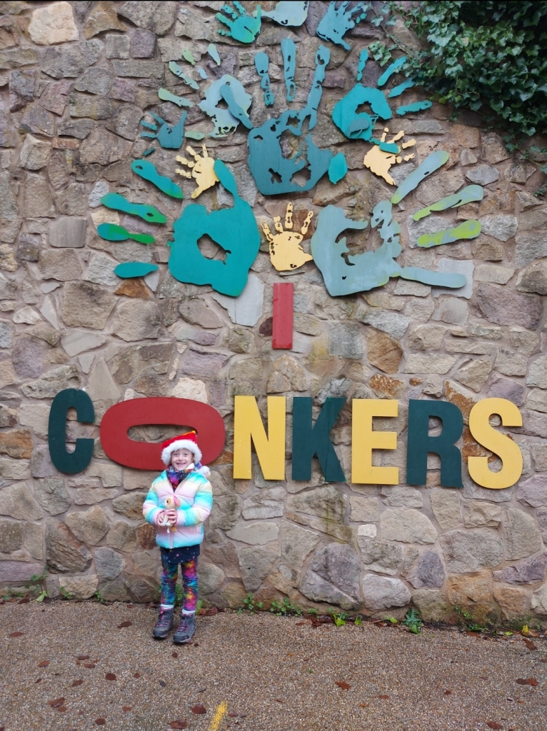 You park at the Discovery Centre to pick up your tickets and vouchers