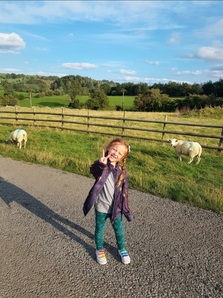 Exploring the fields around Middlehills Farm campsites