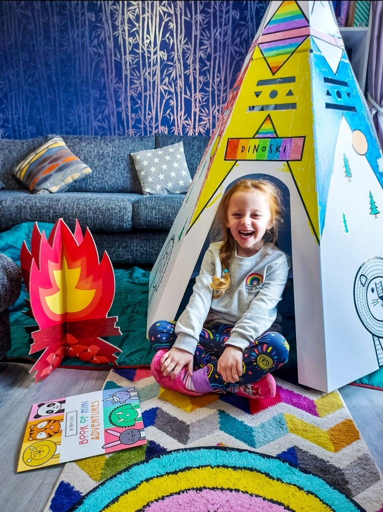 Half term at home doesn't have to be boring (photo: Dinoski Den & Book of Mini Adventures)