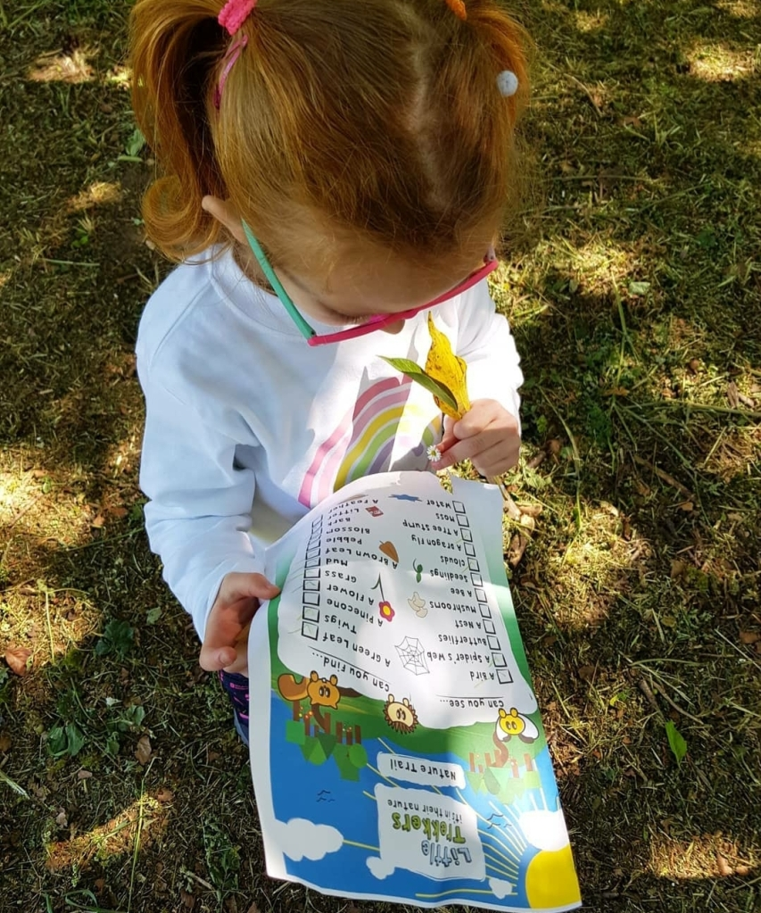 Exploring nature with the Little Trekkers free downloadable nature trail