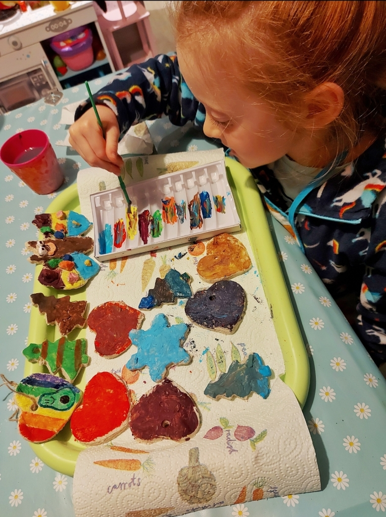 Lily loved the salt dough and painting activities from Wild Things