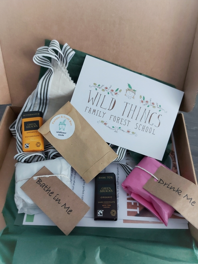 The Mother's Day Pamper & Craft box was beautifully packaged and packed with ideas