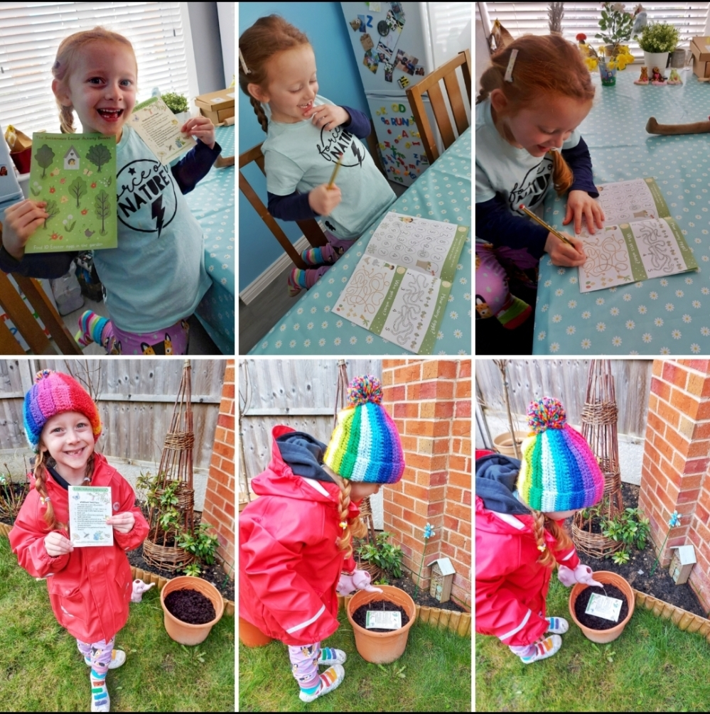 Eco-friendly Easter Activity Book and plantable Wildflower Seed Paper for children from Nurture Collective (gifted)