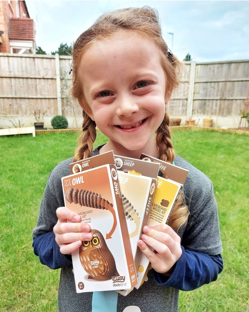 Lily's LOVED doing her eco-friendly craft animal models from Eugy (gifted)