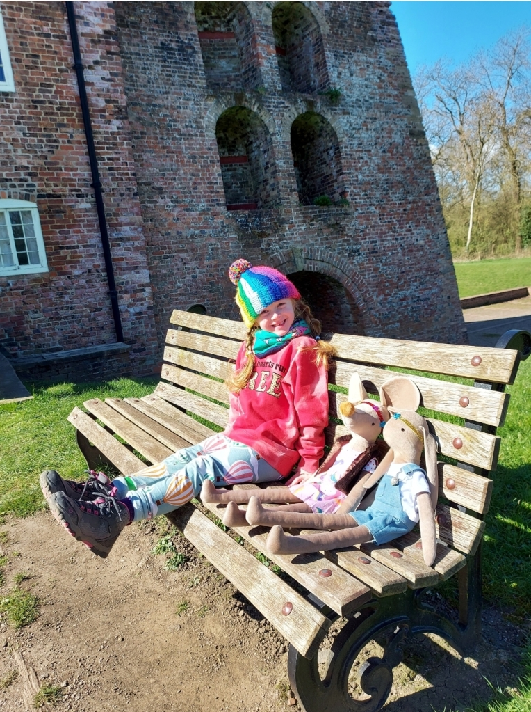 Waiting for the boat trip at Moira Furnace. The museum shop window for tickets and refreshments is next to here