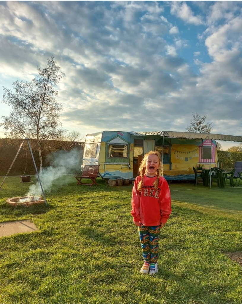 Beautiful hand-painted caravans - all yours to enjoy