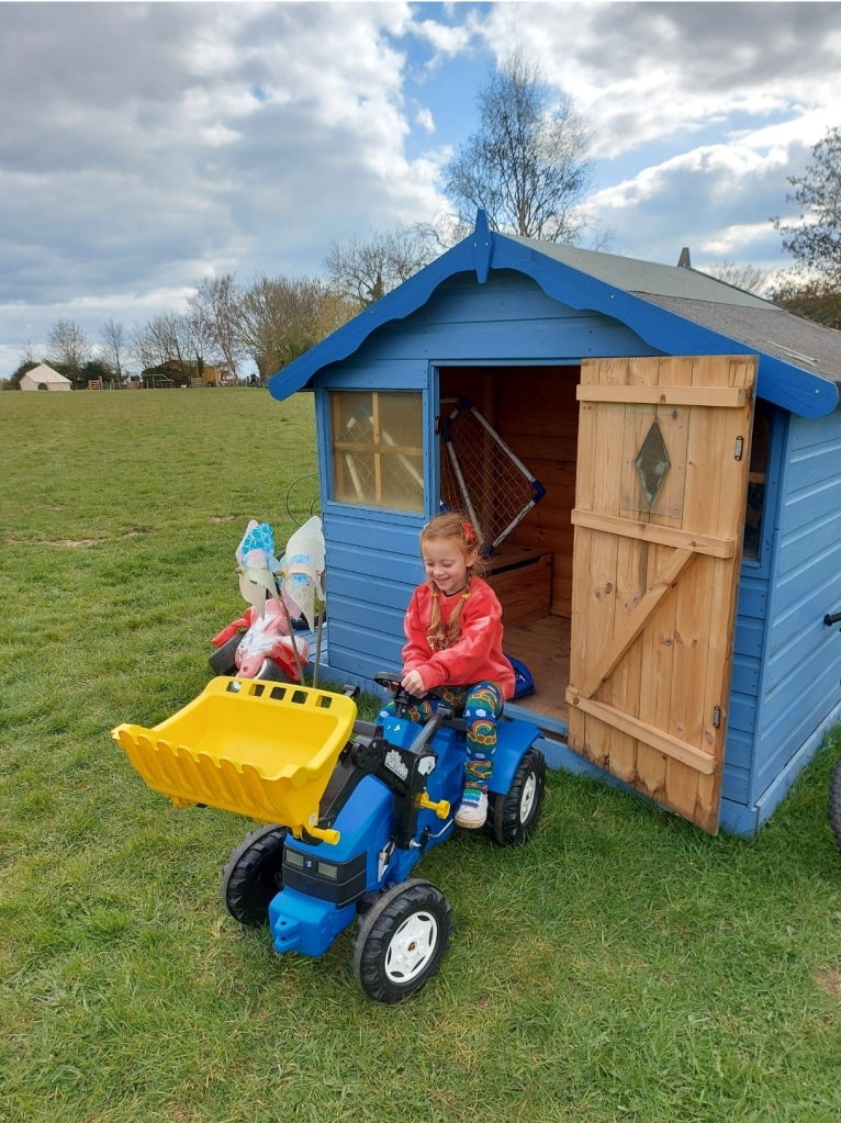 A little shed packed with all kinds of outdoor toys for all ages