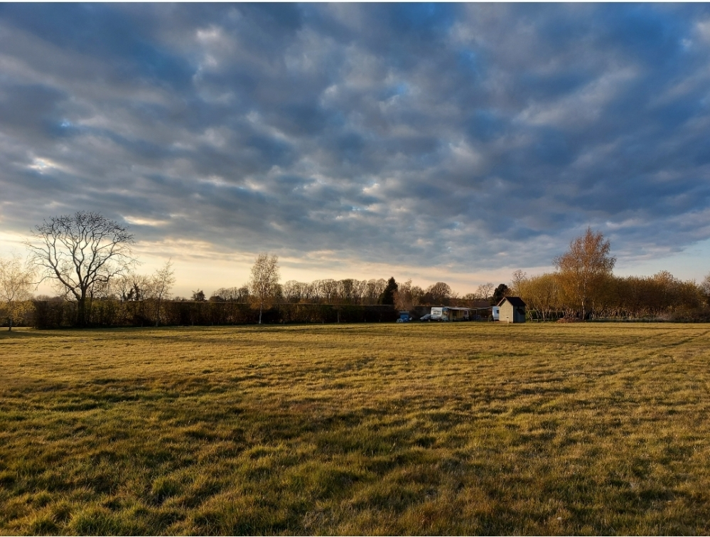Stunning views across the field back towards the caravans - this field is yours!