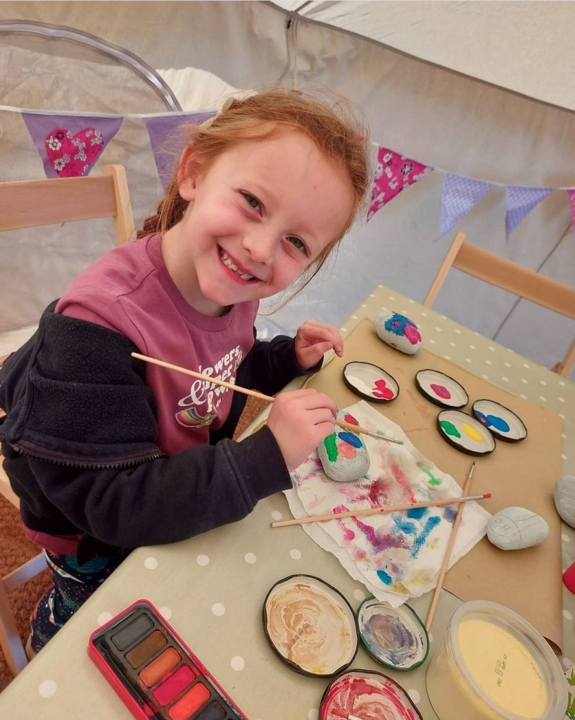 Lily loved the crafts!