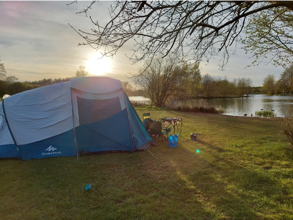 Stunning views across the fishing lake at Brook Meadow