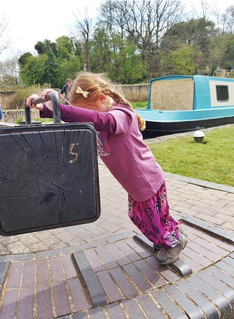 Helping the canal boats get through the locks was definitely a highlight