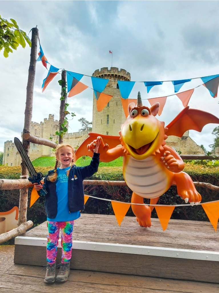Lily had a fantastic time on the Zog Trail at Warwick Castle