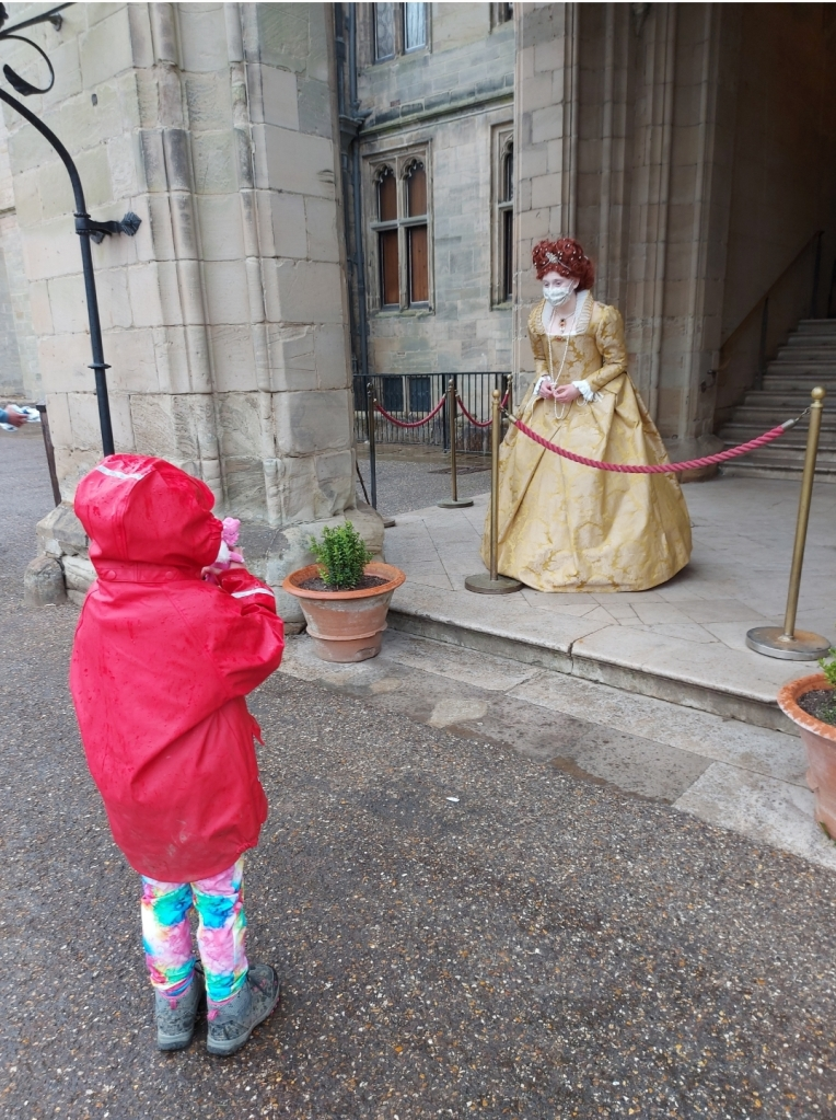 Lily loved having a chat with the residents of Warwick Castle!