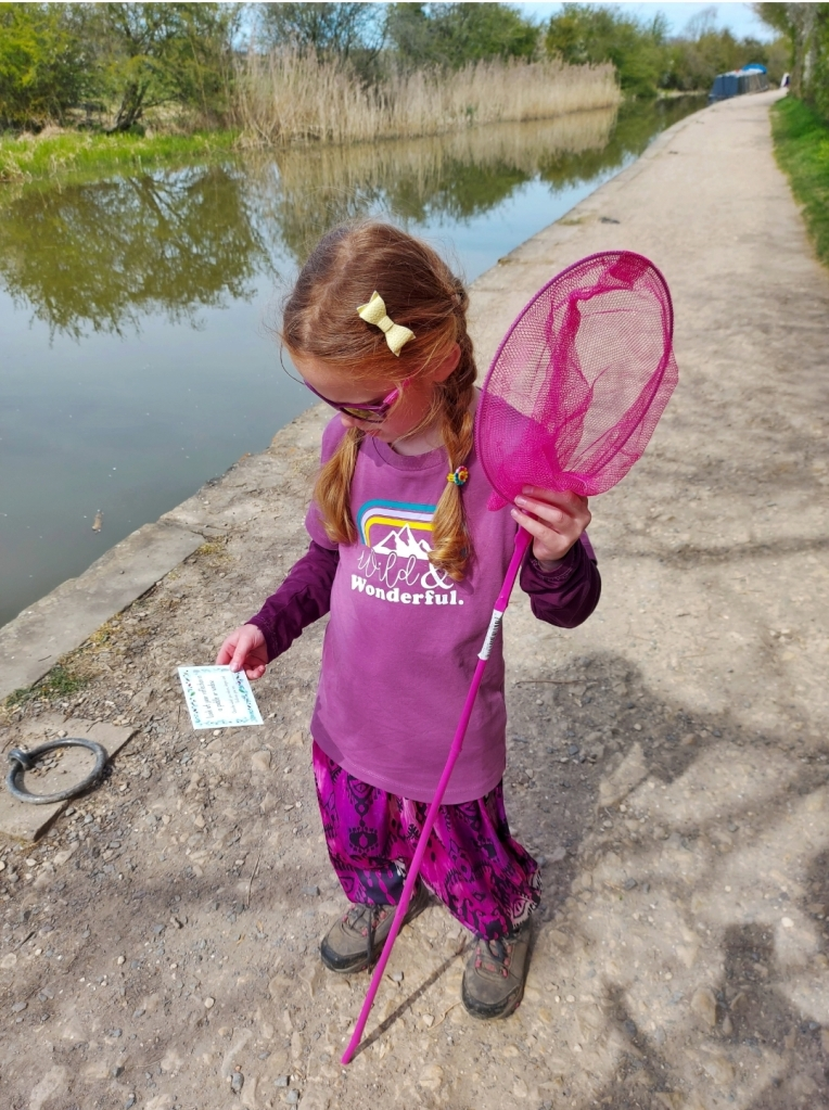 Exploring with her Catkin & Co Sensory Cards