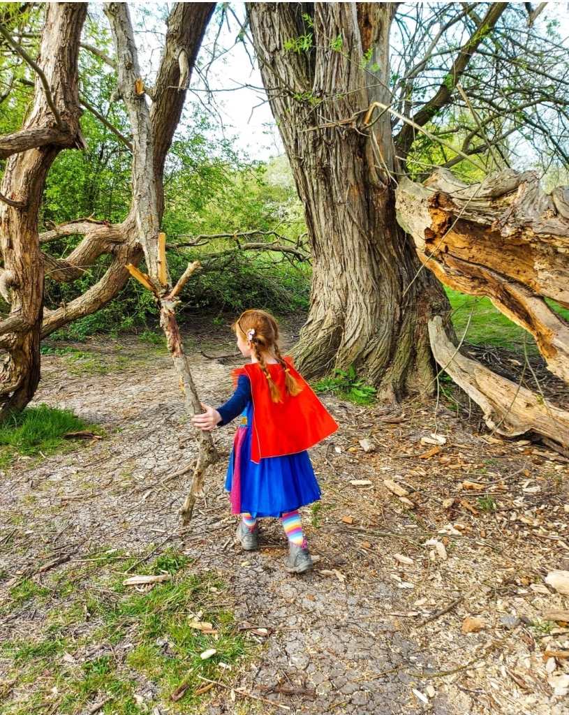 Look at all the colours in nature - see if the kids can draw what they can see and pick out all the colours