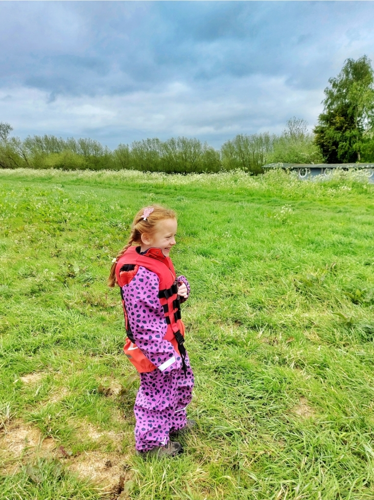 Lily was very excited to get ready for her kayaking trip! She wore waterproofs and was given a buoyancy aid.