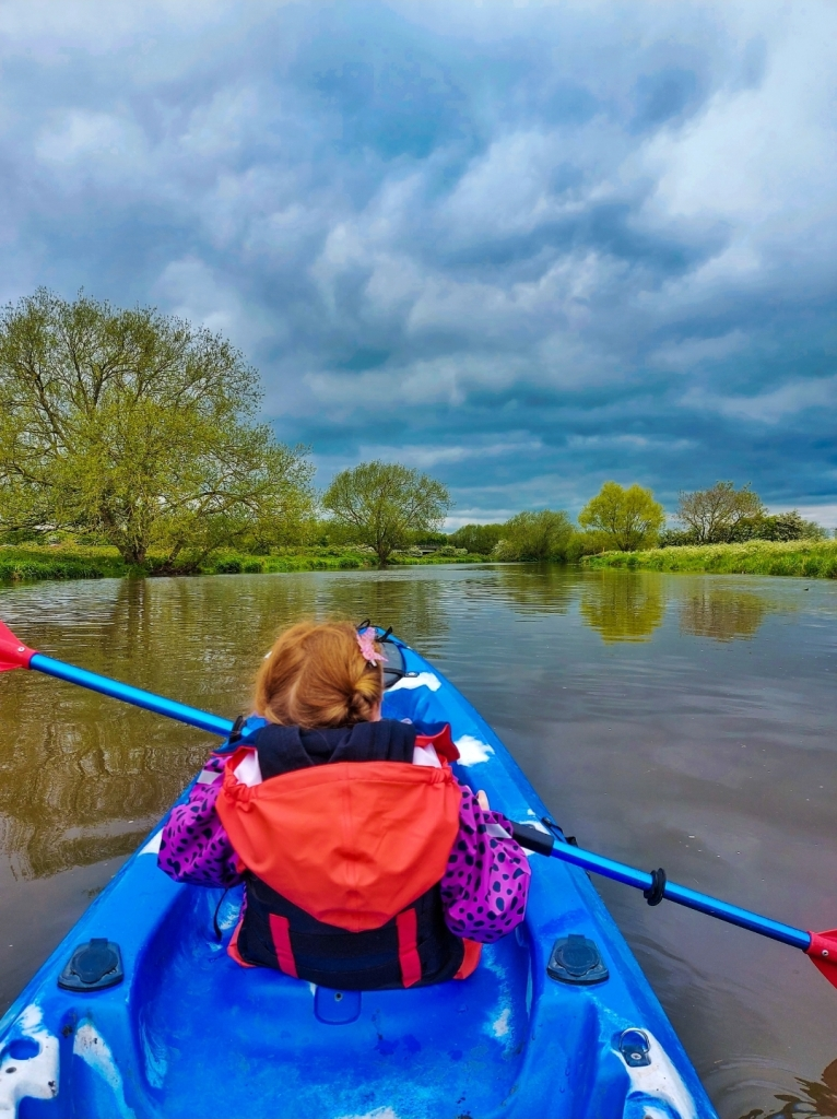 Such beautiful views across the countryside from the River Soar on our kayak