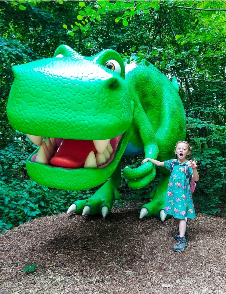 The dinosaurs were fantastic at the Discovery Trail