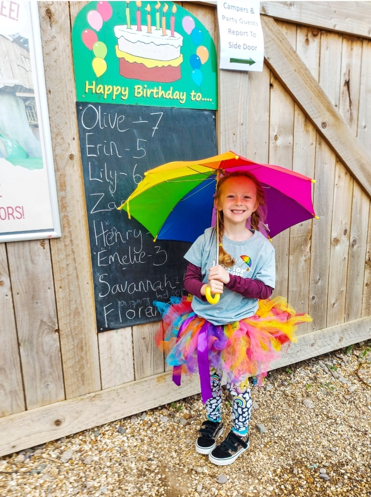 Lily's life goals - to be on the West Lodge Farm Park birthday board!
