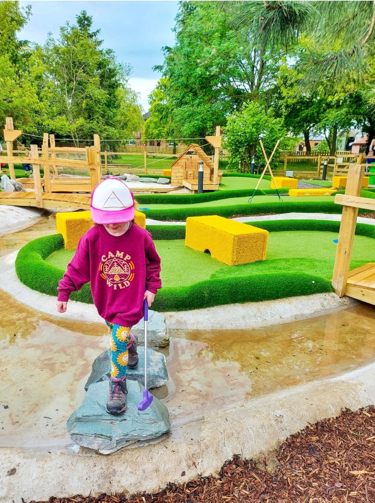 You can even enjoy their brand-new adventure golf at your party!