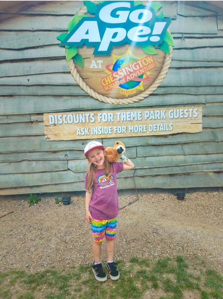 Lily was very excited to visit Go Ape Chessington