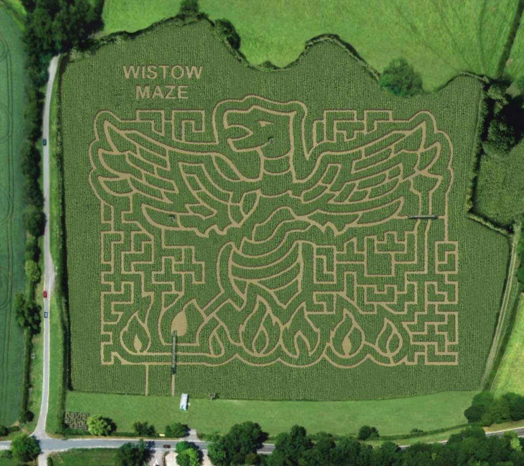 The 2021 theme for Wistow Maze is a phoenix