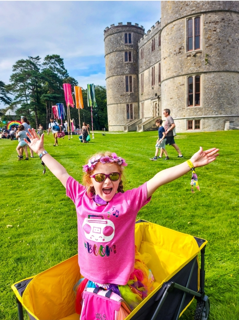 Camp Bestival is in the grounds of Lulworth Castle