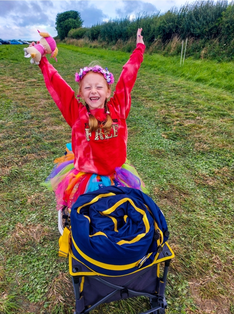Excited to be heading back to Camp Bestival once the winds died down!