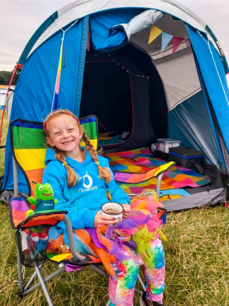 We love camping at Gloworm Festival