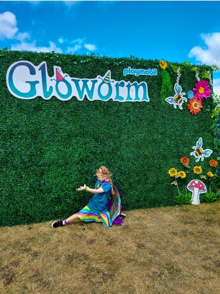 Lily getting some Gloworm superpowers!