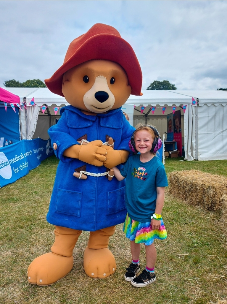We met Paddington at the Action Medical Research stand