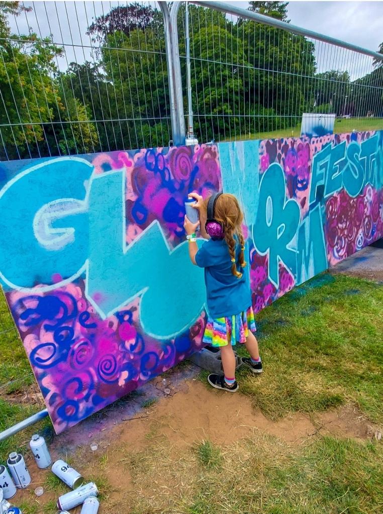 Trying out graffiti art