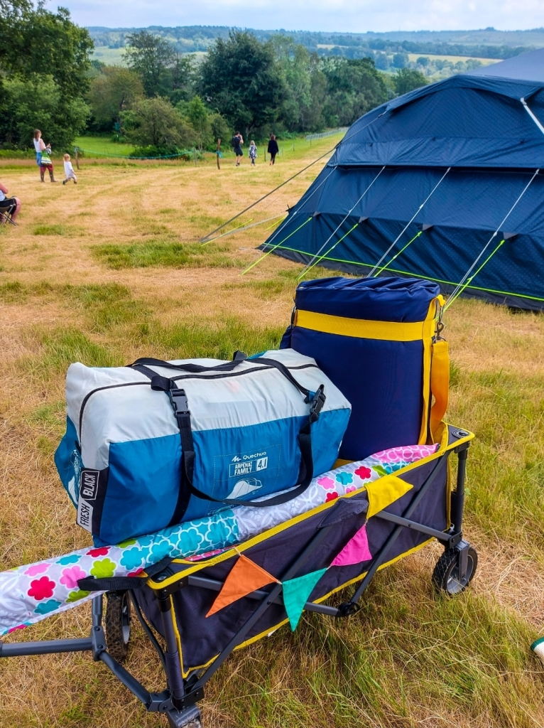 Festival trailers are definitely an essential - bunting optional!