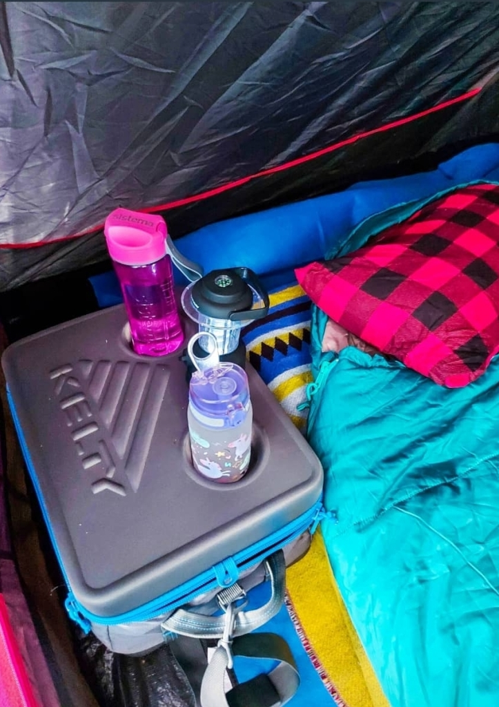 The Kelty Cooler makes a great bedside table too!