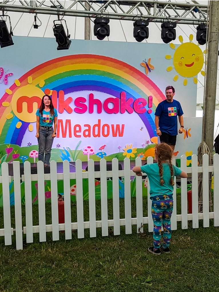 So much fun with the Milkshake TV Crew at 5 on the Farm Festival 2021