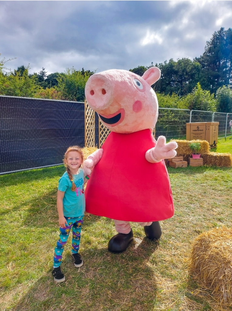 Hanging out with Peppa Pig