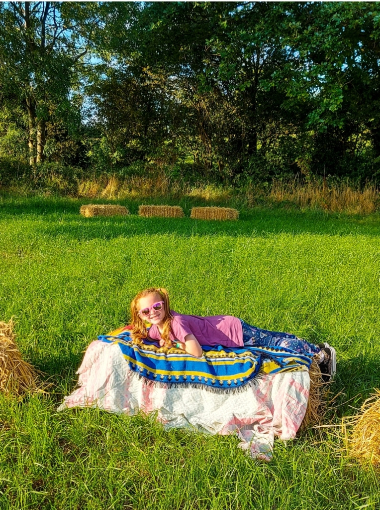 Relaxing on the hay