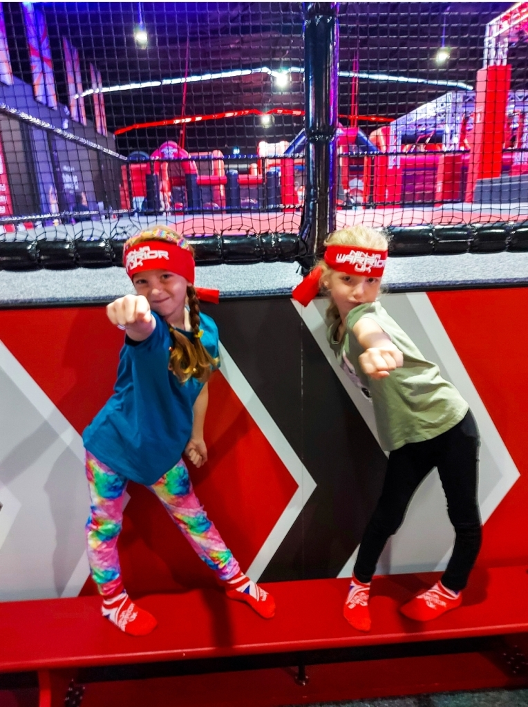The girls were super excited to visit Ninja Warrior UK in Leicester