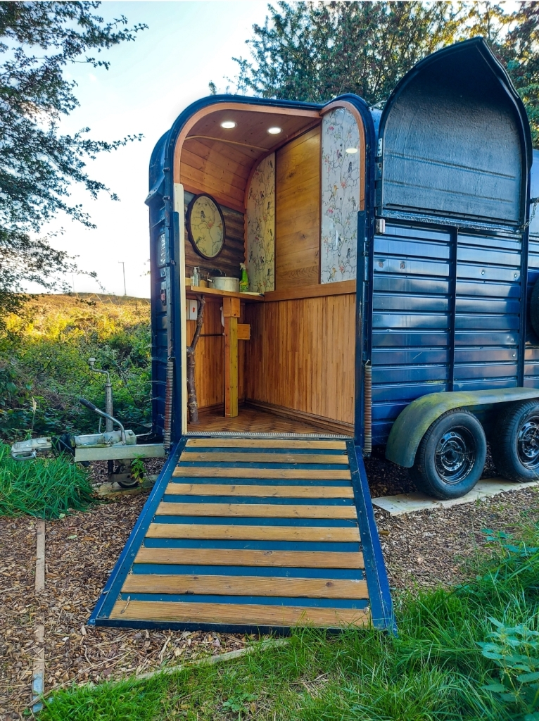 The shower block is an amazing converted horsebox